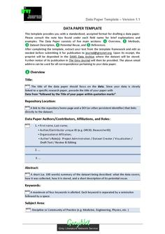 Data Paper Template