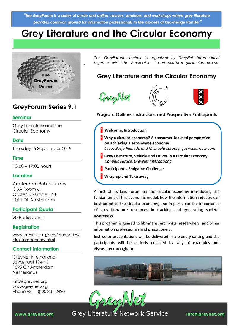Grey Literature and the Circular Economy
